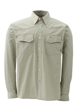 <font color=red>On Sale - Clearance</font><br>Simms Bozeman Long Sleeve Shirt - Sage