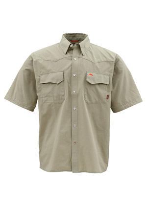 <font color=red>On Sale - Clearance</font><br>Simms Bozeman Short Sleeve Shirt - Sage