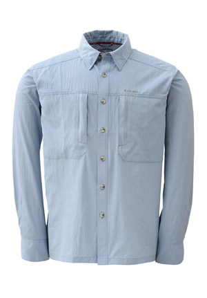 <font color=red>On Sale - Clearance</font><br>Simms BugStopper NFZ Shirt - Blue Fog Plaid