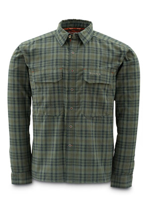 Simms ColdWeather Shirt - Black Olive Plaid