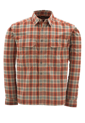 <font color=red>On Sale - Clearance</font><br>Simms ColdWeather Shirt - Redwood Plaid