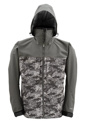 <font color=red>On Sale - Clearance</font><br>Simms Contender Gore-Tex Jacket - Catch Camo Dk Gunmetal