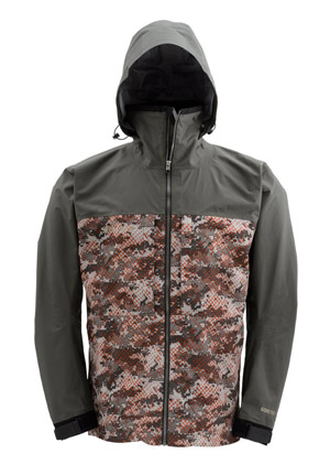<font color=red>On Sale - Clearance</font><br>Simms Contender Gore-Tex Jacket - Catch Camo Orange