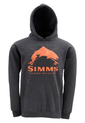 <font color=red>On Sale - Clearance</font><br>Simms Crest Hoody - Coal