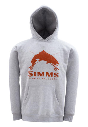 <font color=red>On Sale - Clearance</font><br>Simms Crest Hoody - Sport Grey