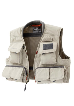 <font color=red>On Sale - Clearance</font><br>Simms Freestone Vest - Sand