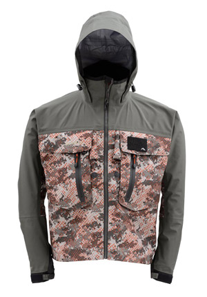 <font color=red>On Sale - Clearance</font><br>Simms G3 Guide Jacket - Catch Camo Orange