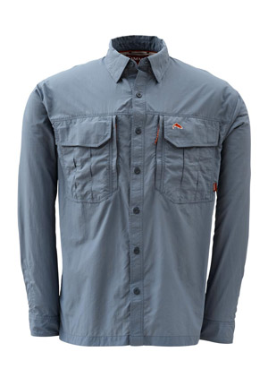 <font color=red>On Sale - Clearance</font><br>Simms Guide Shirt - Steel Blue