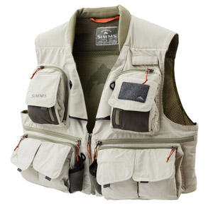 <font color=red>On Sale - Clearance</font><br>Simms Guide Vest - Khaki