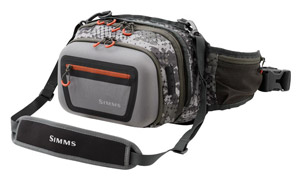 <font color=red>On Sale - Clearance</font><br>Simms Headwaters Chest/Hip Pack - Catch Camo Dk Gunmetal
