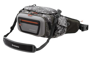 <font color=red>On Sale - Clearance</font><br>Simms Headwaters Pro Waist Pack - Catch Camo Dk Gunmetal