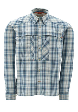 Simms Kenai Shirt - Steel Blue Plaid