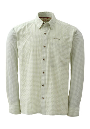 <font color=red>On Sale - Clearance</font><br>Simms Morada Long Sleeve Shirt - Caye Green Plaid