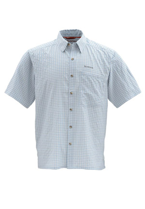 <font color=red>On Sale - Clearance</font><br>Simms Morada SS Shirt - Slate Blue Plaid