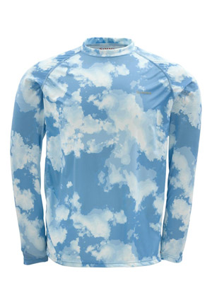 <font color=red>On Sale - Clearance</font><br>Simms Solarflex Shirt - LS - Blue Cloud Camo