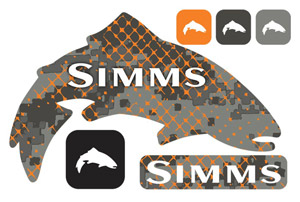 Simms Mega Decal - Trout