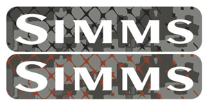 Simms Mega Wordmark Decal