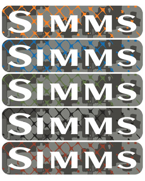 Simms Wordmark Decal