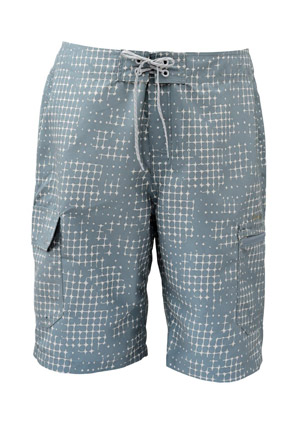 <font color=red>On Sale - Clearance</font><br>Simms Surf Short - Slate Blue Catch Print