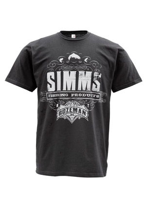 <font color=red>On Sale - Clearance</font><br>Simms T-Shirt - Insignia - SS - Black