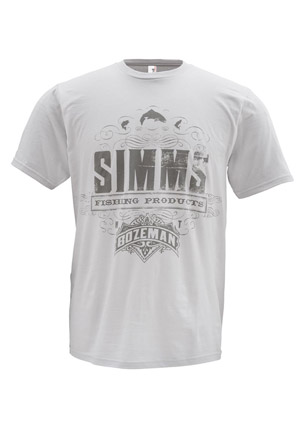 <font color=red>On Sale - Clearance</font><br>Simms T-Shirt - Insignia - SS - Grey