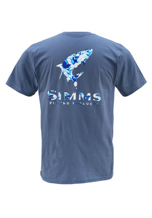<font color=red>On Sale - Clearance</font><br>Simms T-Shirt - Tarpon Camo - SS - River