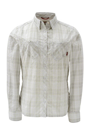 <font color=red>On Sale - Clearance</font><br>Simms Women's Big Sky Shirt - Grey Plaid