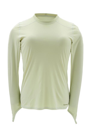 <font color=red>On Sale - Clearance</font><br>Simms Women's Solarflex Crew Neck - Caye Green