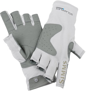 <font color=red>On Sale - Clearance</font><br>Simms Solarflex Guide Glove - Grey