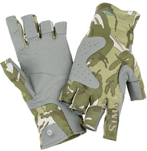 <font color=red>On Sale - Clearance</font><br>Simms Solarflex Guide Glove - Riffle Camo