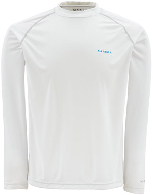 Simms Solarflex LS Crewneck – Graphic Series - White