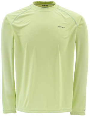 <font color=red>On Sale - Clearance</font><br>Simms Solarflex LS Crewneck – Solids - Island Green