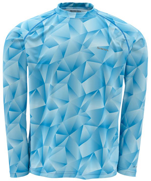 <font color=red>On Sale - Clearance</font><br>Simms Solarflex LS Crewneck – Prints - Prism Camo