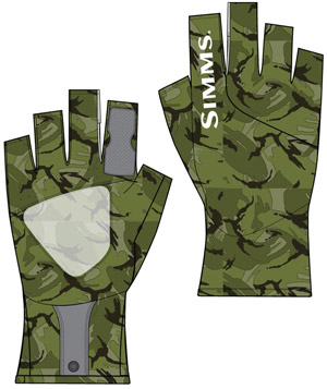 <font color=red>On Sale - Clearance</font><br>Simms SunGlove - Riffle Camo
