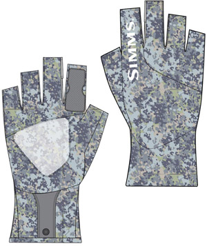 <font color=red>On Sale - Clearance</font><br>Simms Solarflex™ SunGlove - Tidal Camo