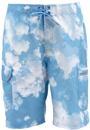 <font color=red>On Sale - Clearance</font><br>Simms Surf Short - Blue Cloud Camo
