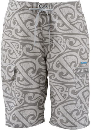 <font color=red>On Sale - Clearance</font><br>Simms Surf Short - Waypoint Grey