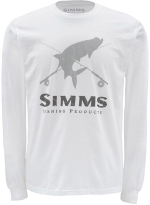 <font color=red>On Sale - Clearance</font><br>Simms Tarpon Crest LS - White