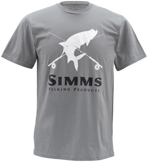 <font color=red>On Sale - Clearance</font><br>Simms Tarpon Crest SS - Storm