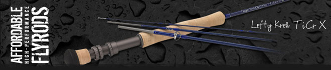 "<font color=red>On Sale - Clearance</font><br>TFO Lefty Kreh TiCr X Series Fly Rods - 7' 6"" 8wt 4pc (TFO 08 76 4 TX)"