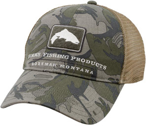 <font color=red>On Sale - Clearance</font><br>Simms Trout Trucker Cap - Riffle Camo