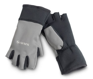<font color=red>On Sale - Clearance</font><br>Simms WindStopper Half-Finger Gloves - Gunmetal