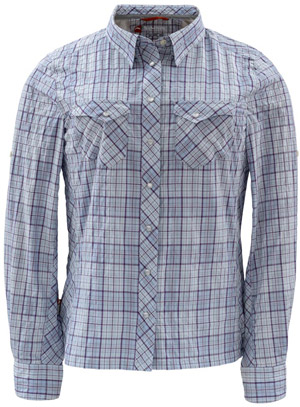 <font color=red>On Sale - Clearance</font><br>Simms Women's Big Sky LS Shirt - Ice Plaid