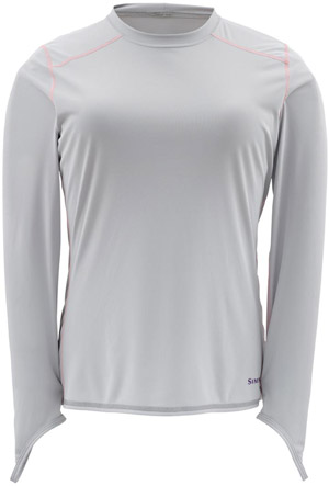 <font color=red>On Sale - Clearance</font><br>Simms Women's Solarflex LS Crewneck - Grey