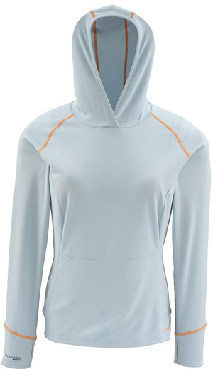 <font color=red>On Sale - Clearance</font><br>Simms Women's Horizons Hoody - Aqua