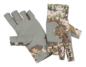 <font color=red>On Sale - Clearance</font><br>Simms Solarflex Guide Glove - River Camo