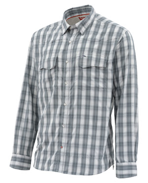<font color=red>On Sale - Clearance</font><br>Simms Big Sky LS Shirt - Storm Plaid