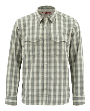<font color=red>On Sale - Clearance</font><br>Simms Big Sky LS Shirt - Fennel Plaid