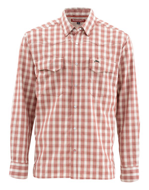 <font color=red>On Sale - Clearance</font><br>Simms Big Sky LS Shirt - Rusty Red