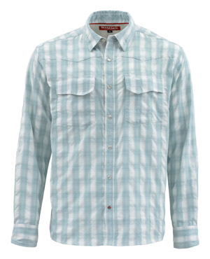 <font color=red>On Sale - Clearance</font><br>Simms Big Sky LS Shirt - Fog Plaid